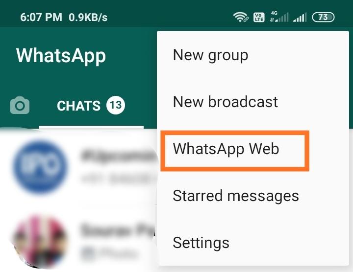 WhatsApp in computer